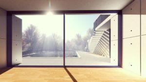 piscine et terrasse attenant à une villa